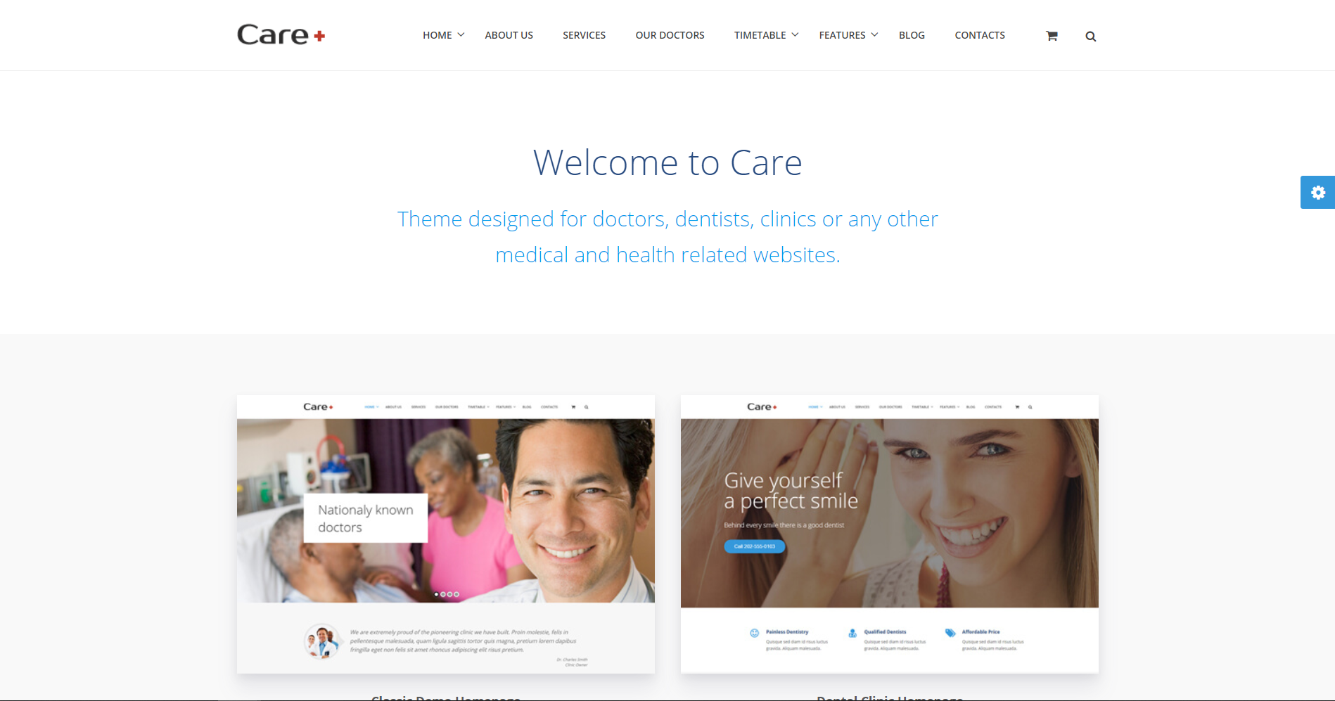 33. Care - Medical and Health Blogging WordPress Theme