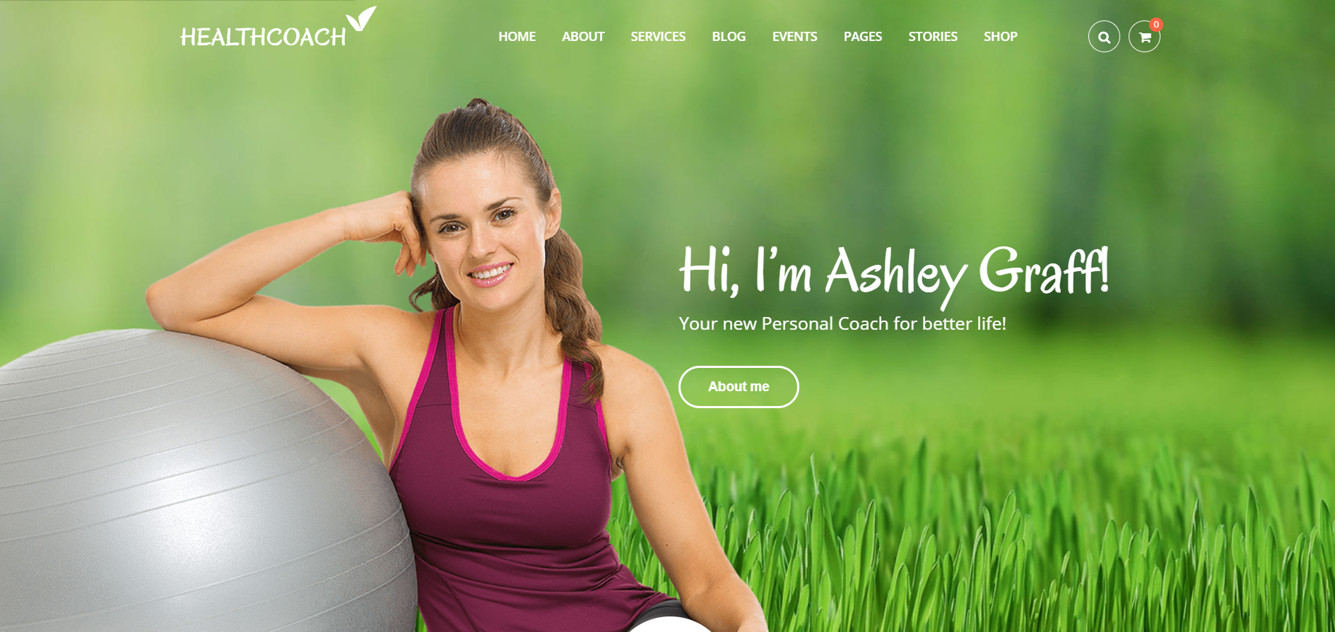 34. Health Coach - Life Coach WordPress Theme for Personal Trainer