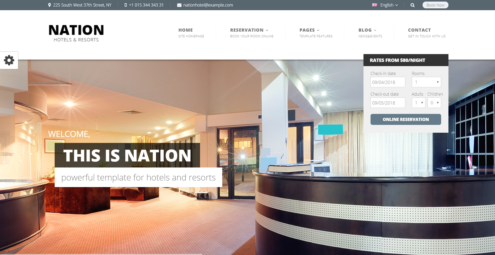 36. Nation Hotel - Responsive WordPress Theme