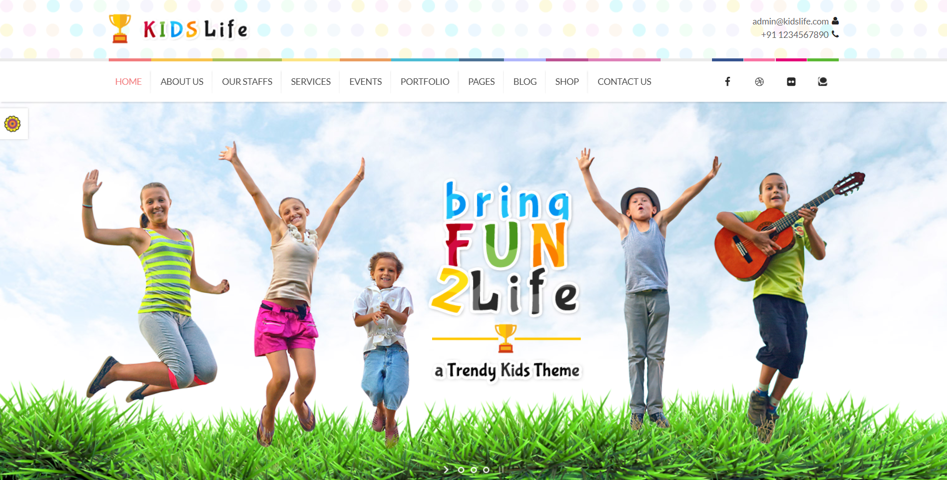 38. Kids Life Children WordPress Theme