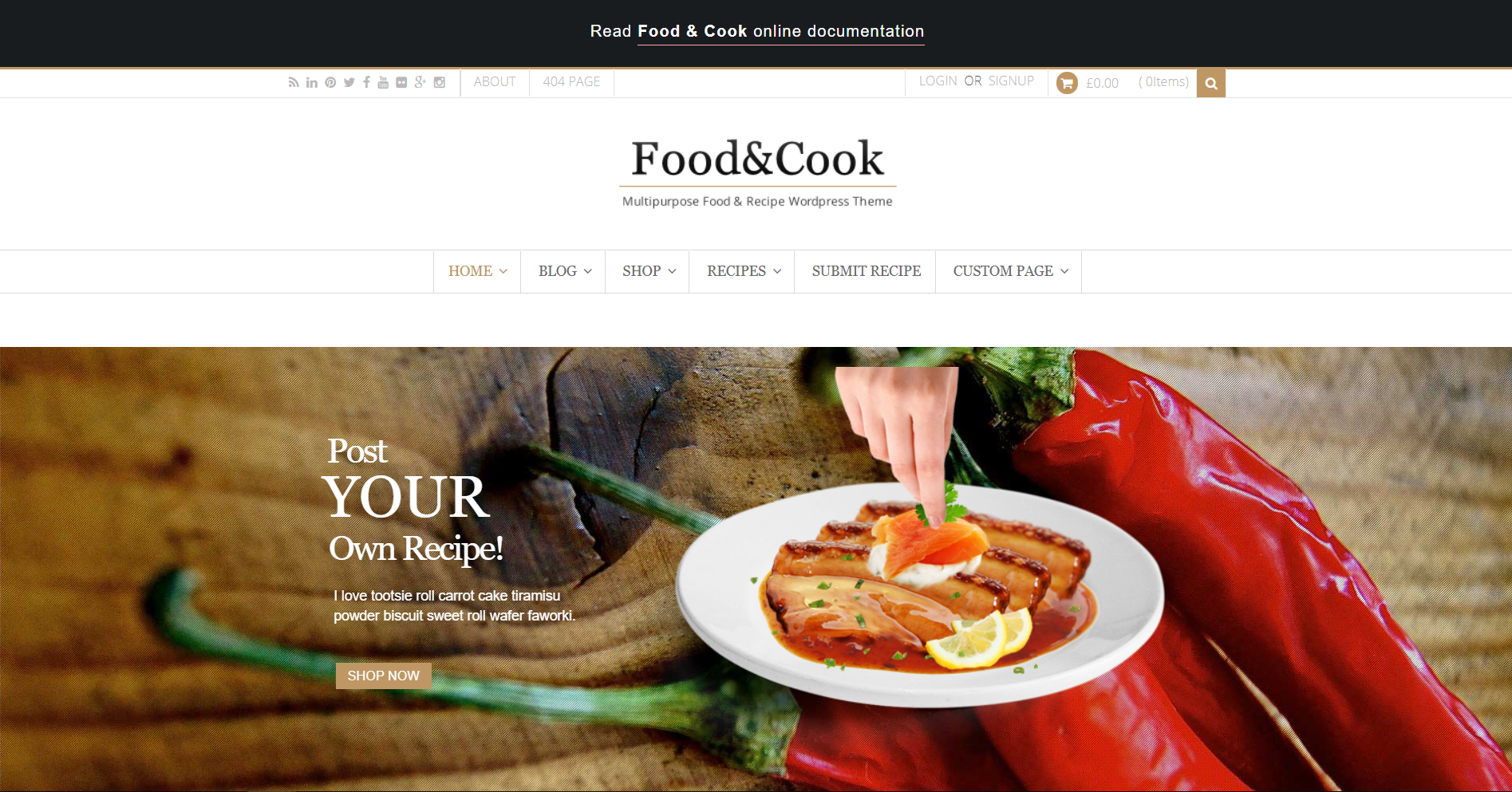 39. Food & Cook - Multipurpose Food Recipe WP Theme