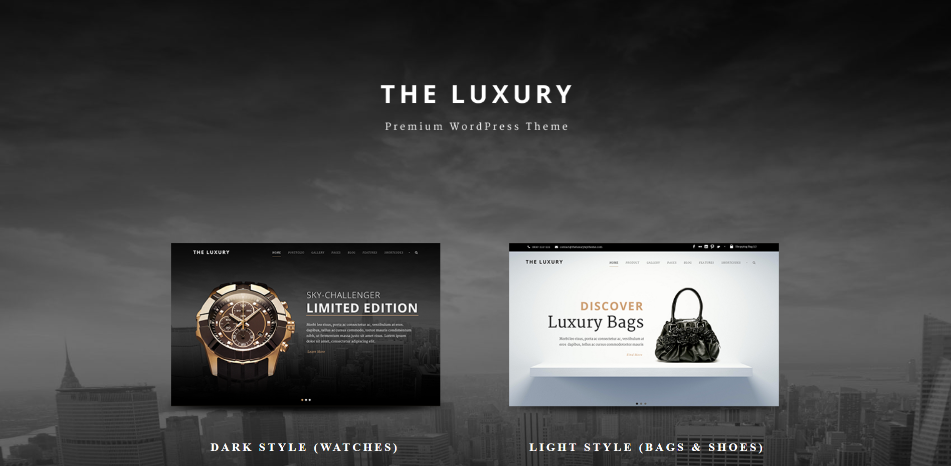 4. The Luxury - Dark Light Responsive WordPress Theme