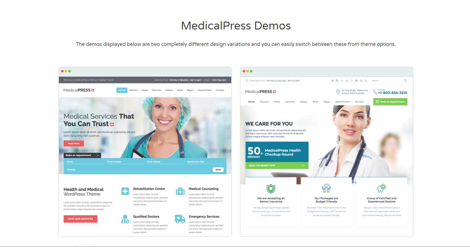 43. MedicalPress - Health and Medical WordPress Theme