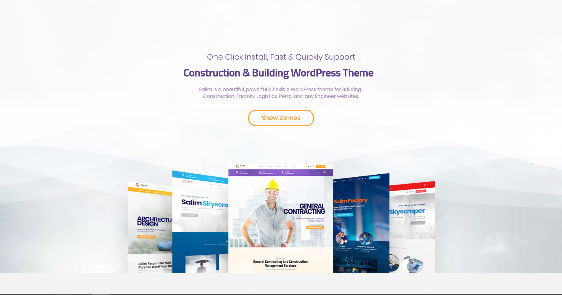 44. Salim - Construction and Building WordPress Theme
