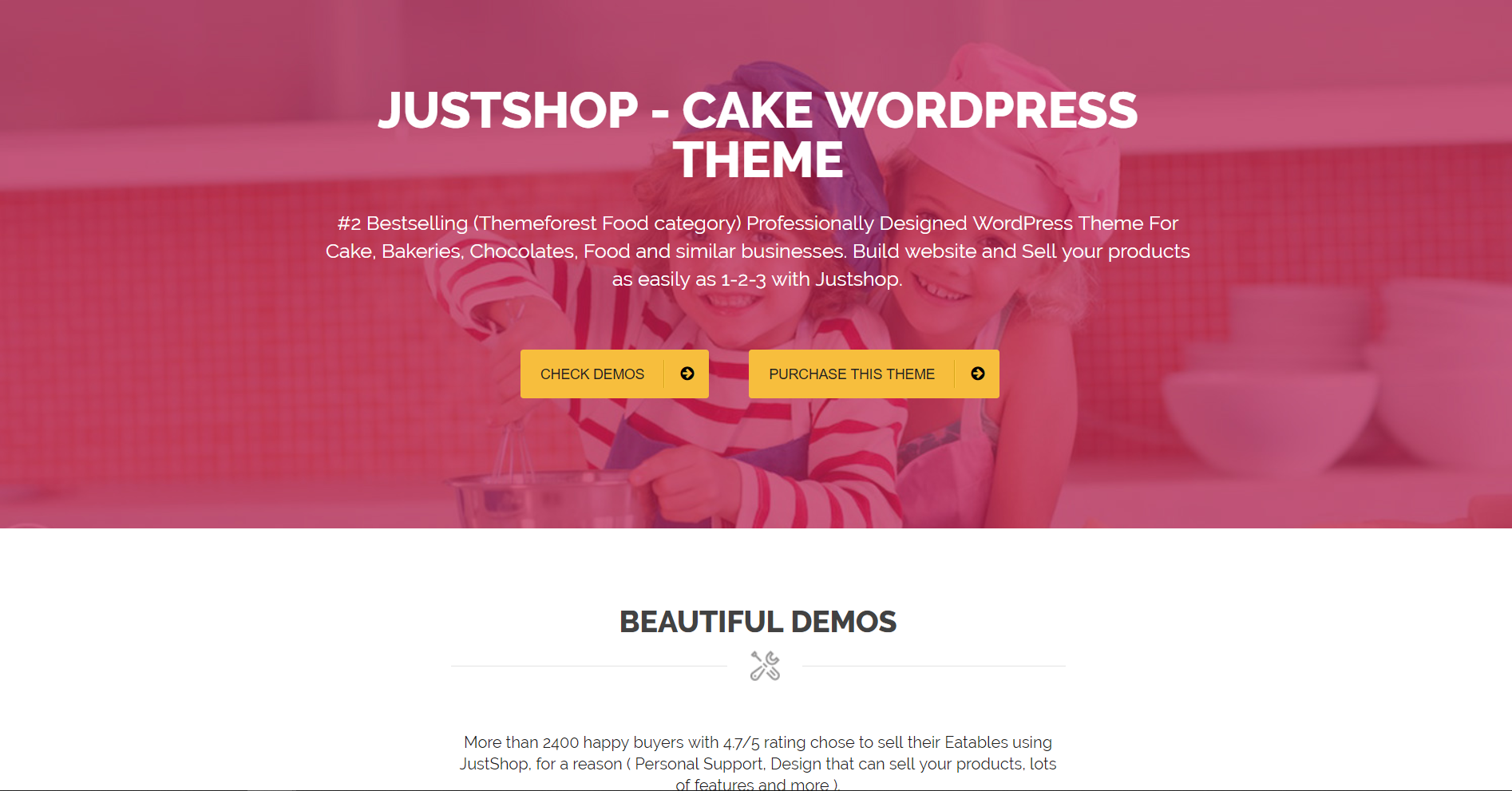 46. Cake Bakery WordPress Theme - Justshop