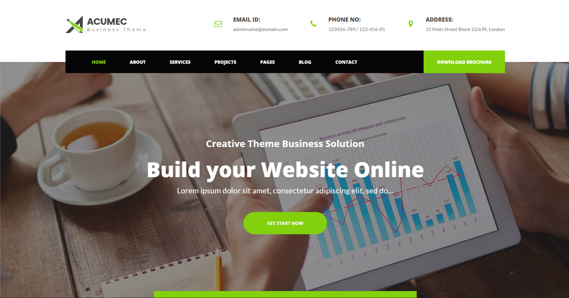 49. Acumec - Business Multipurpose WordPress Theme