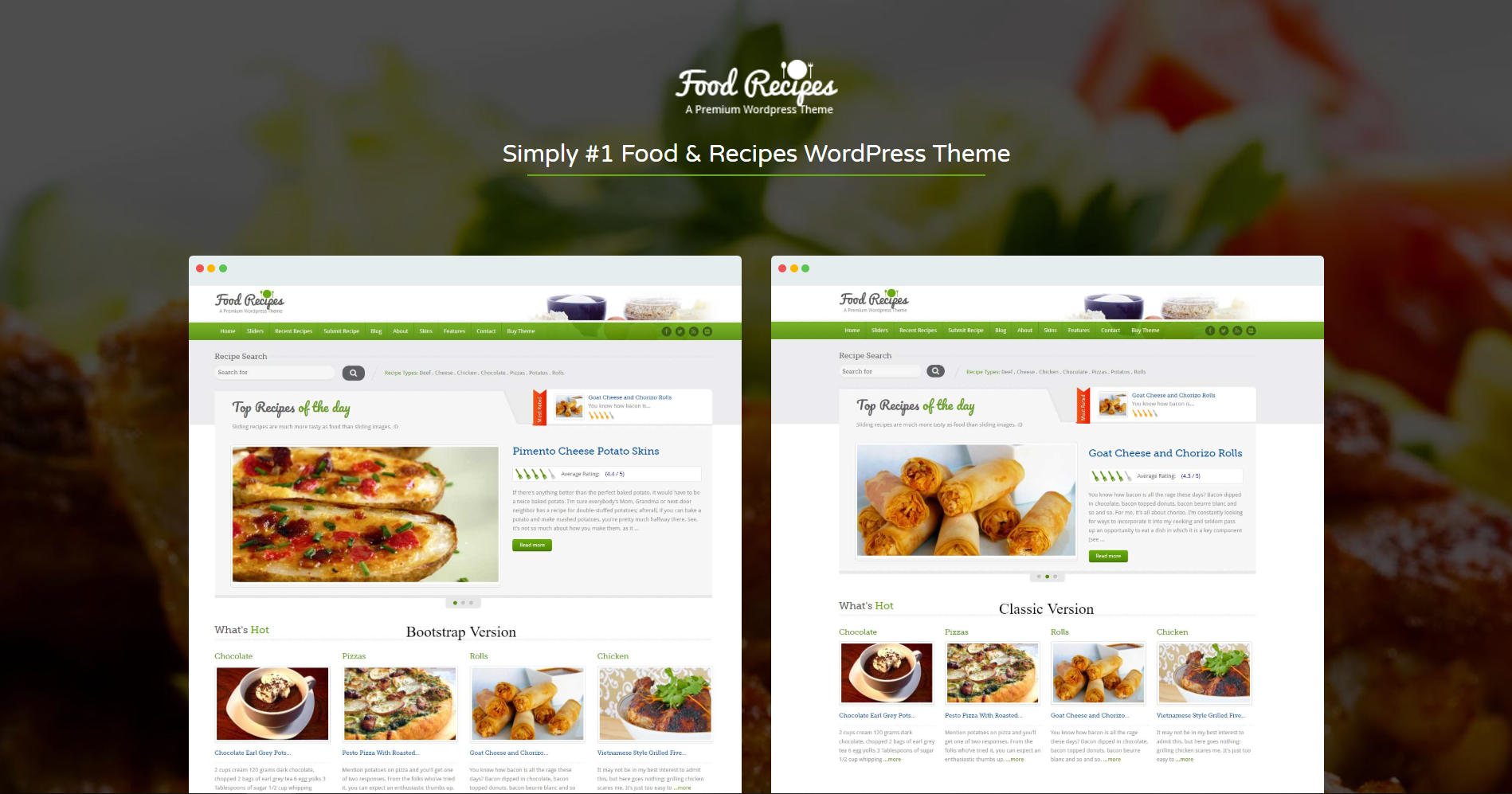 49. Food Recipes - WordPress Theme