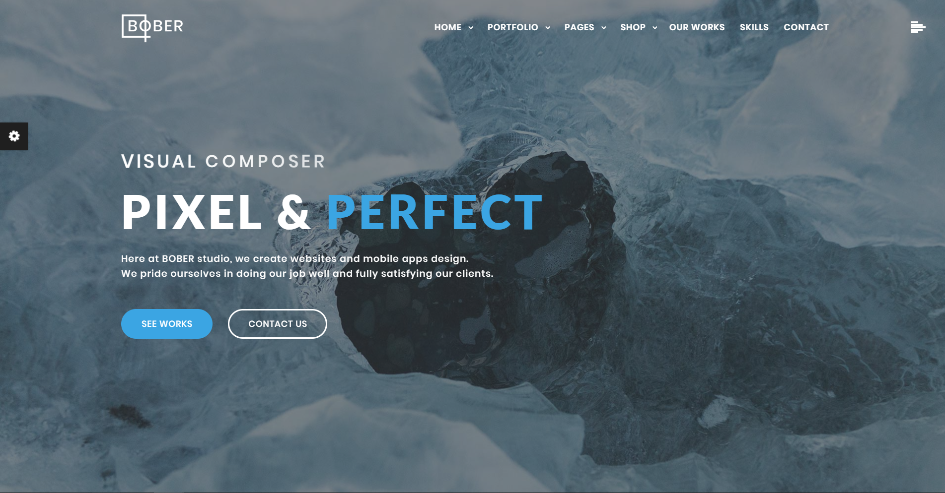 50. Bober - Creative Responsive Minimalistic WordPress Theme