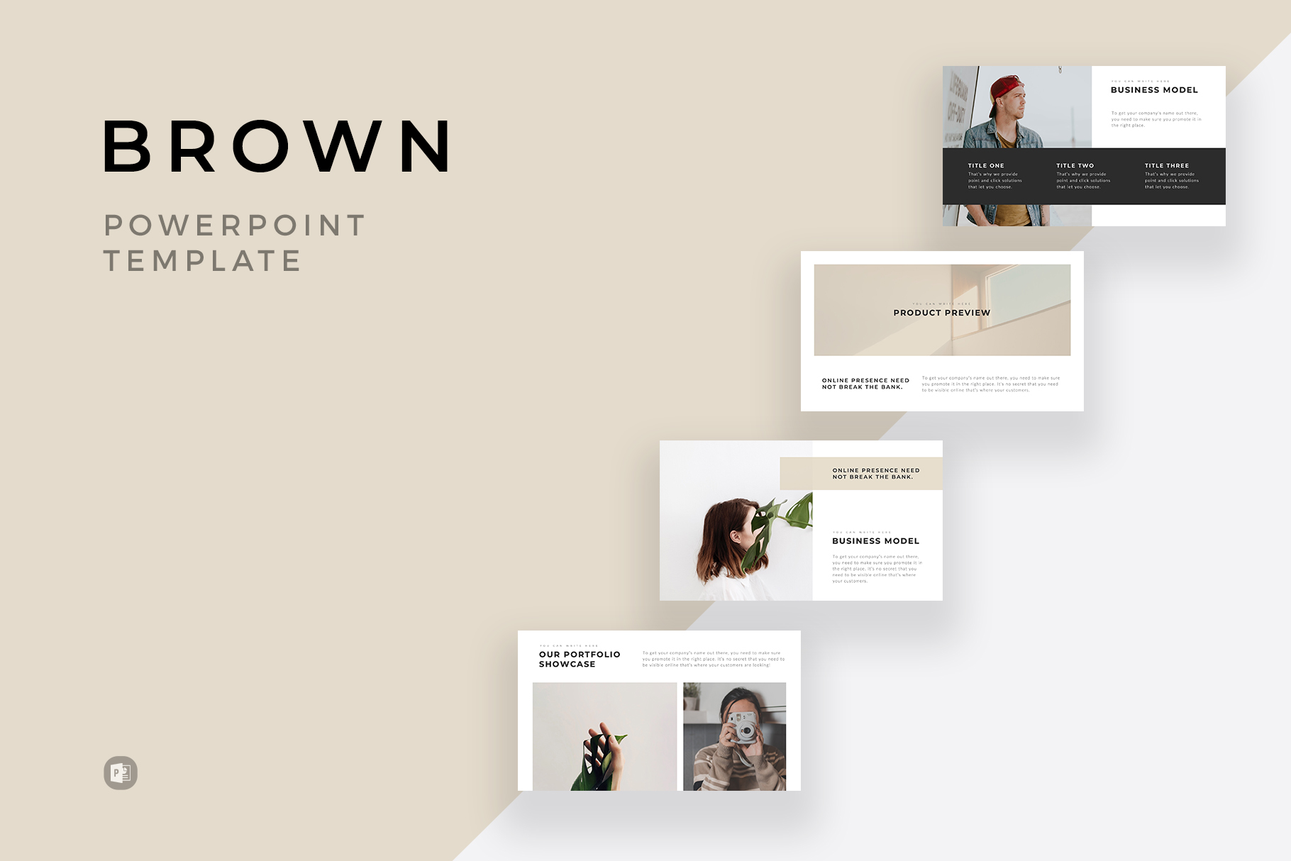 Brown Minimal PowerPoint Template