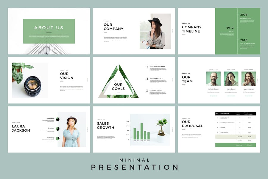 Minimal Presentation PowerPoint Template