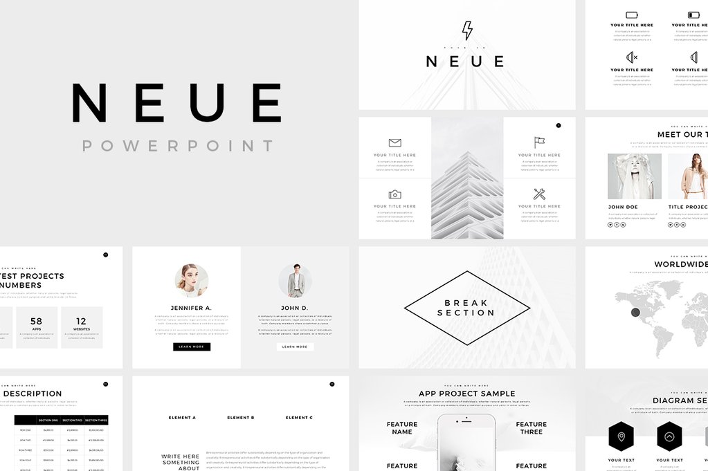 Neue Free Minimal Powerpoint By Slideforest