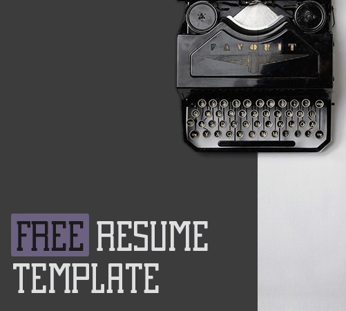 Resume Free PowerPoint Presentation Template