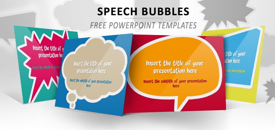 Speech Bubbles Free Powerpoint Template