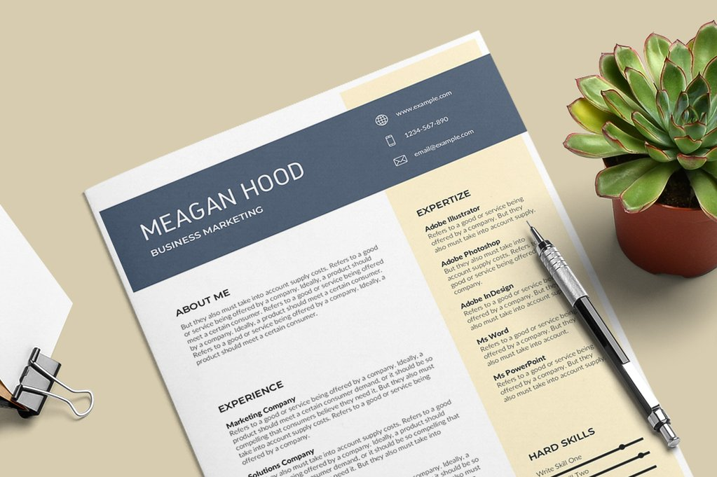 Modern Resume Templates Word