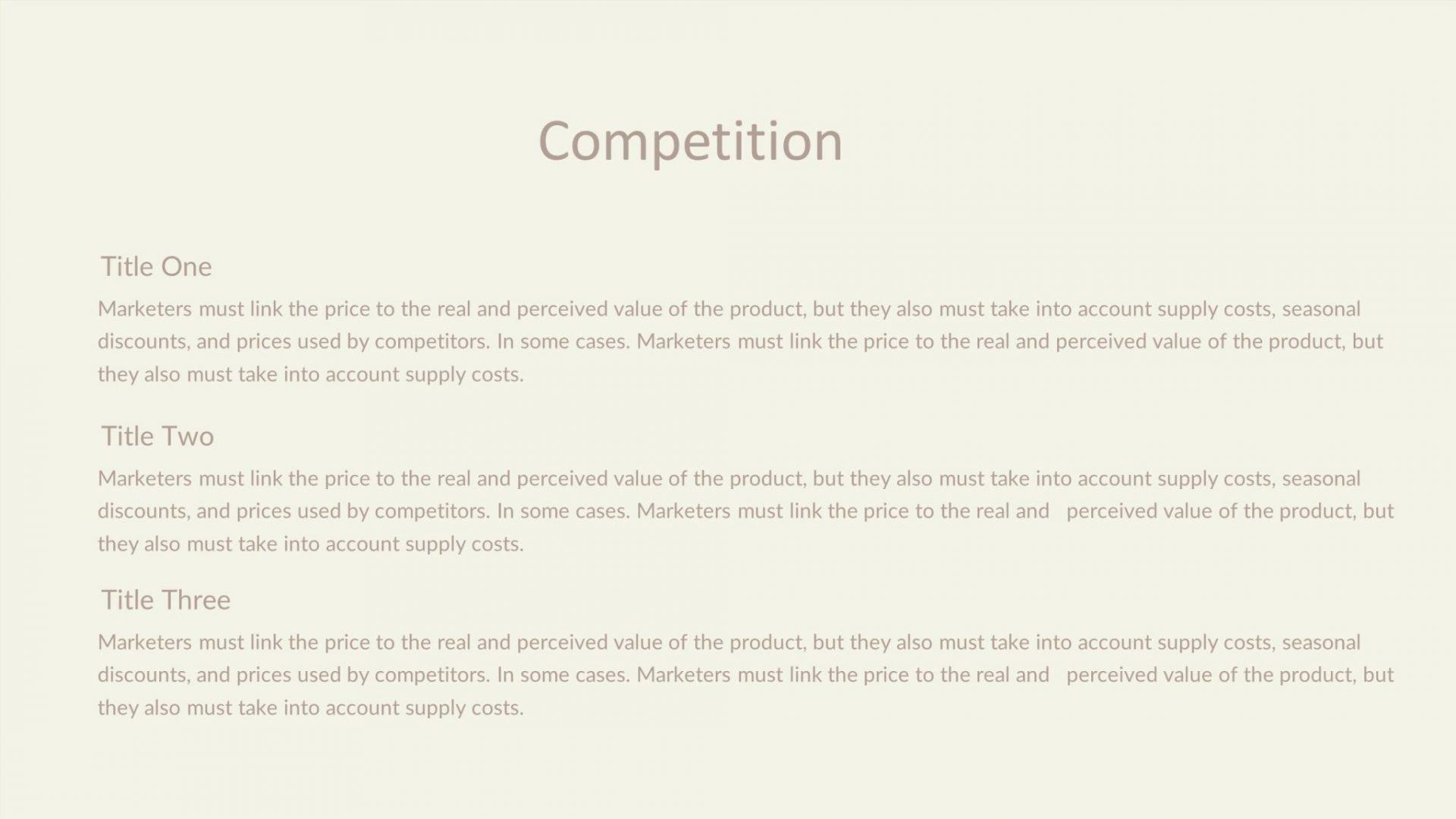 Pitch Deck Free Presentation Template