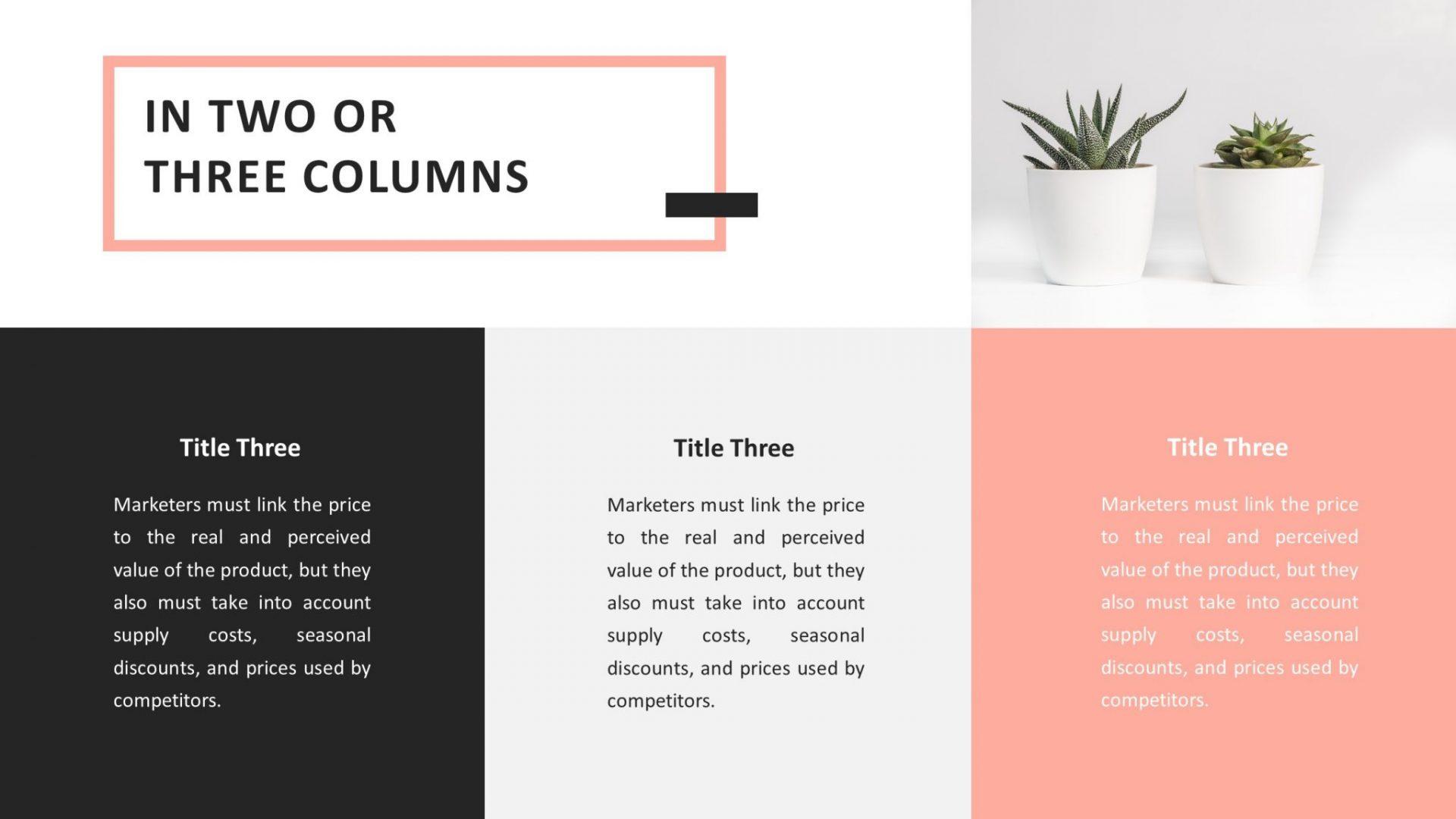 Free Minimalist PowerPoint Template