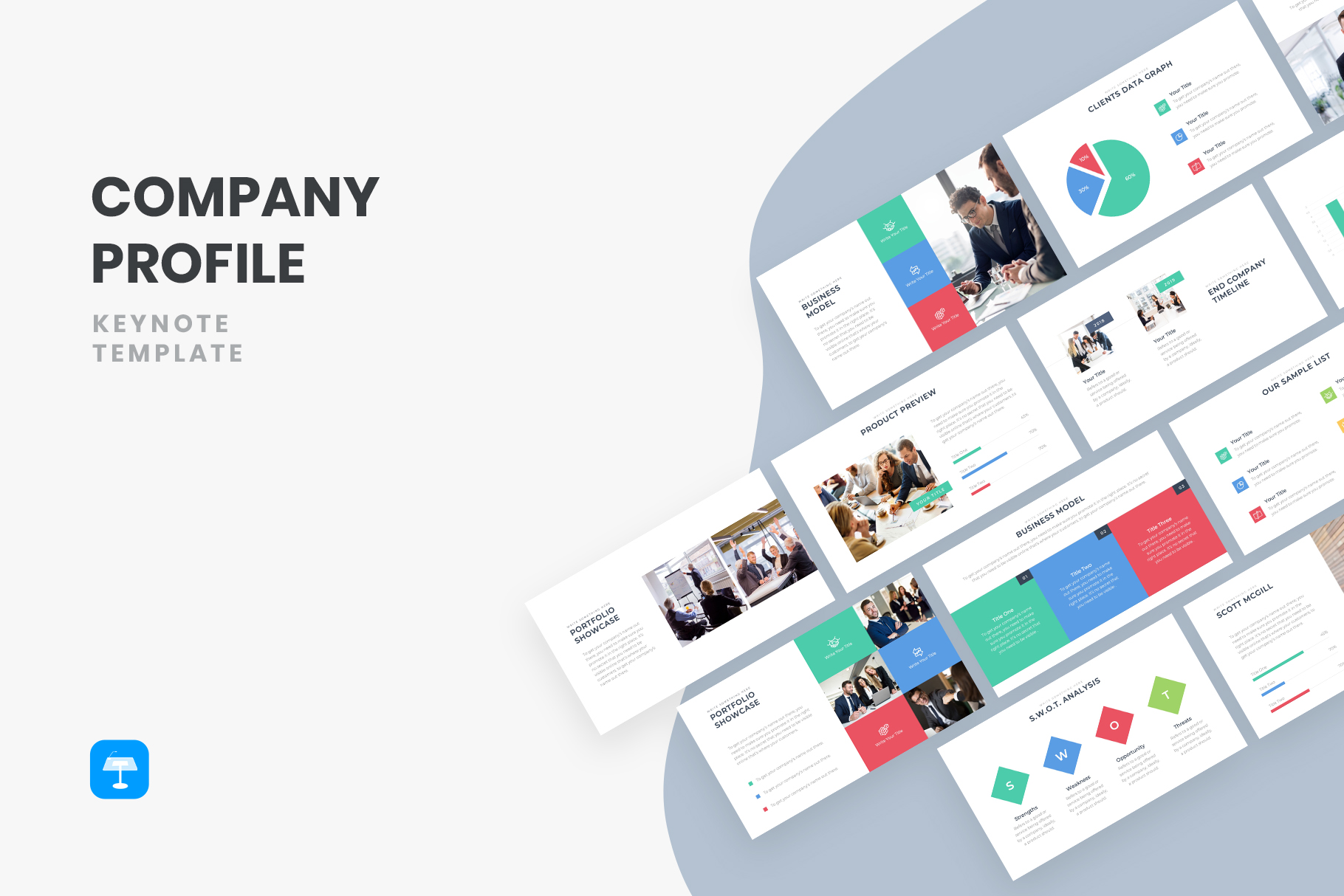 20+ Best Free Company Profile Keynote Templates