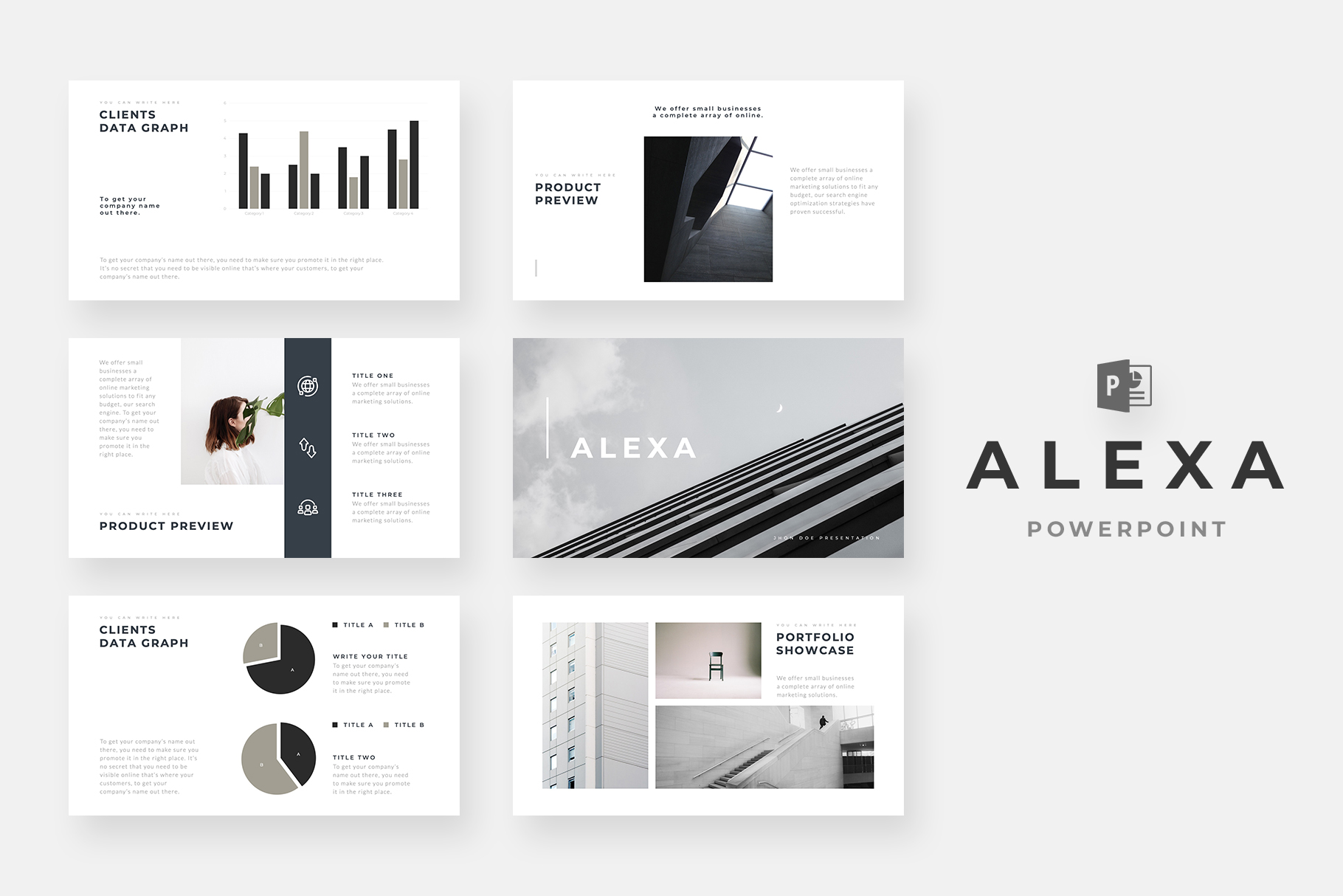 17 Minimalist And Simple Presentation Templates 2019