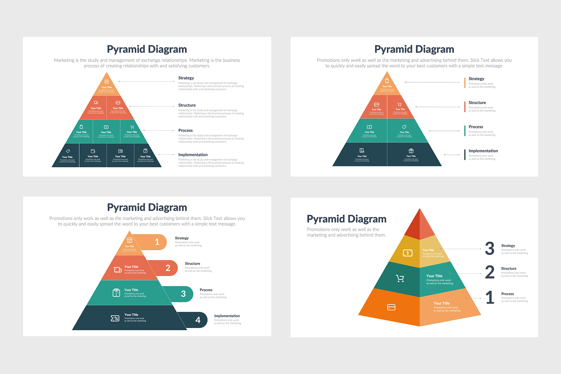 Stylish Pyramid Infographics