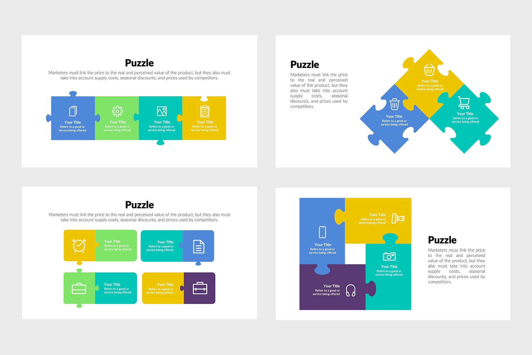 Modern Puzzle Infographics of