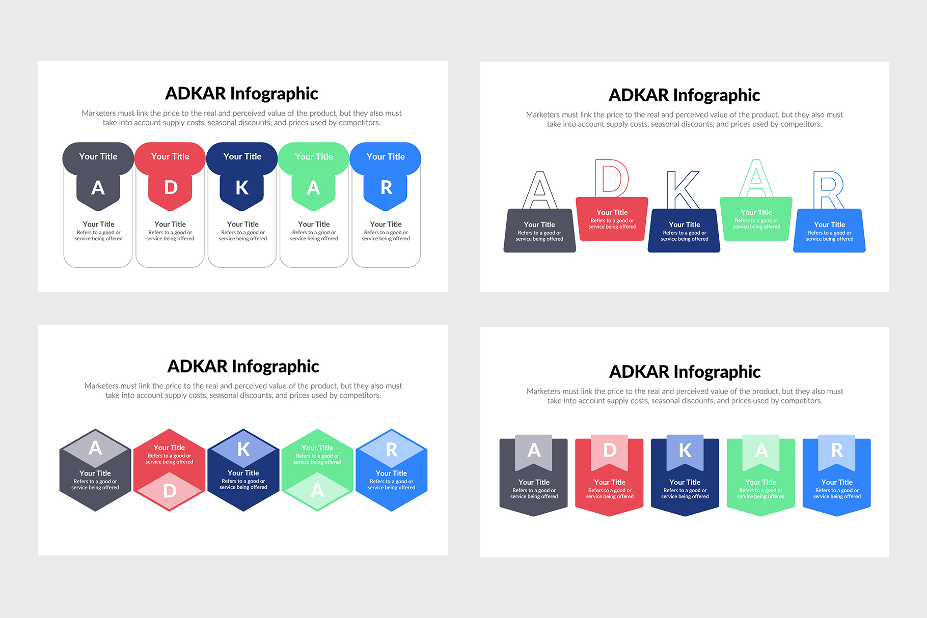 Adkar Infographics for PowerPoint and Illustrator