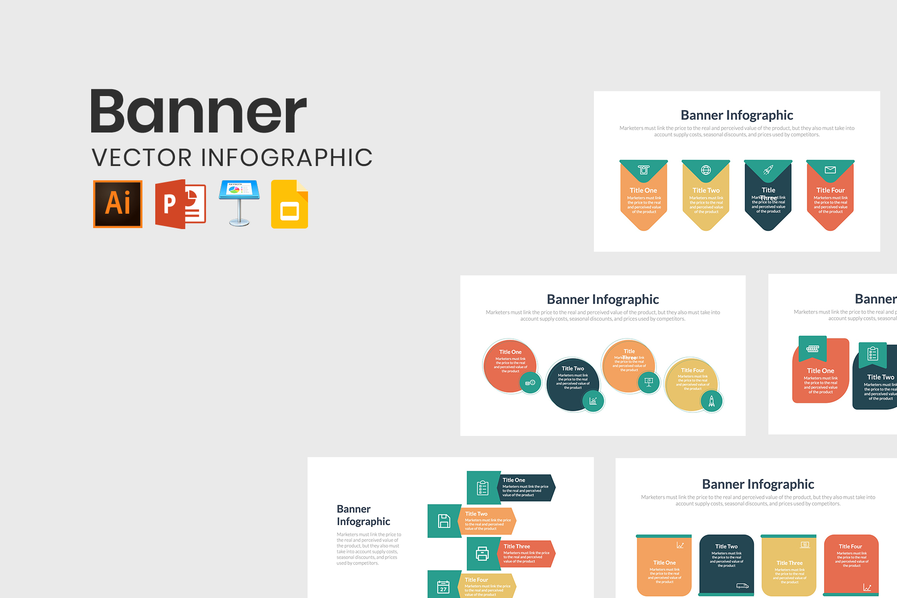 Banner Infographics for PowerPoint and Keynote