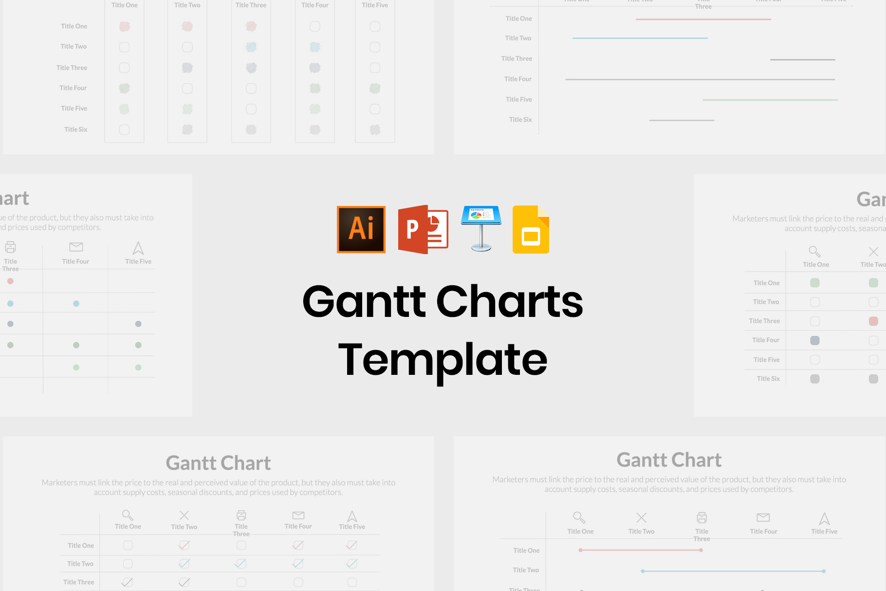 Stylish Gantt Charts of This Year