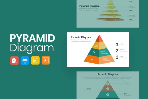 Stylish Pyramid Infographics