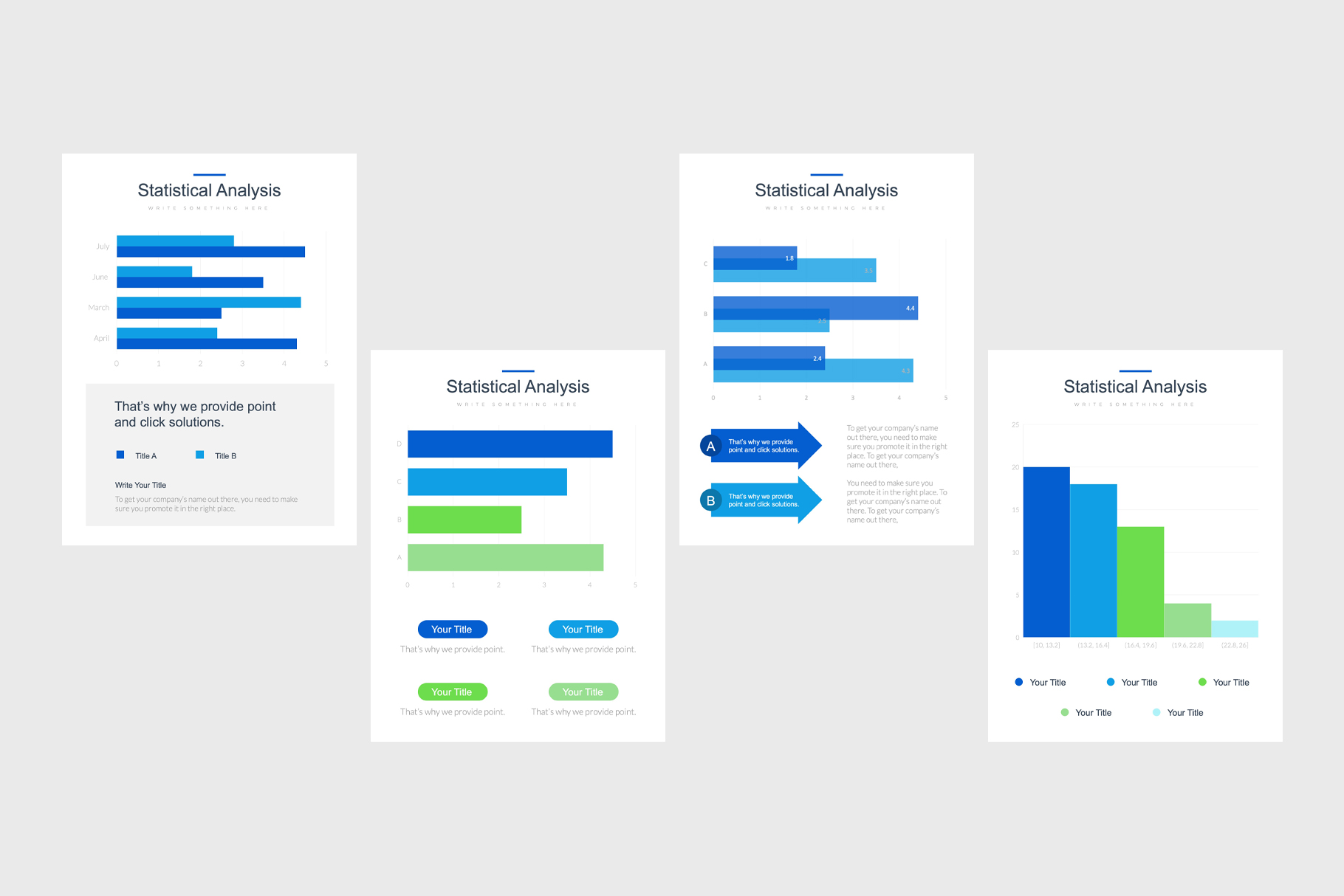 Professional Portrait Bar Charts